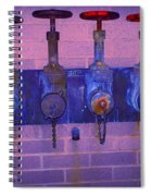 Purple Pipes Spiral Notebook