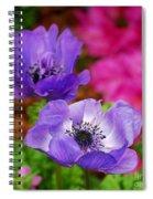 Purple Poppies Spiral Notebook