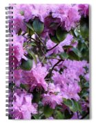 Purple Rhododendrons Spiral Notebook
