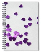 Purple Scattered Hearts II Spiral Notebook