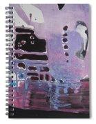 Purple Seascape Spiral Notebook