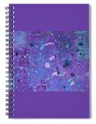 Purple Splash Spiral Notebook