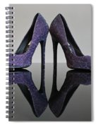Purple Stiletto Shoes Spiral Notebook