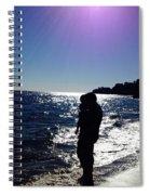 Purple Sun Evening Beach Spiral Notebook