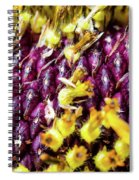 Purple Sunflower Seeds Spiral Notebook