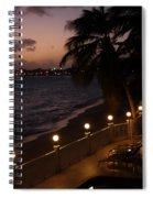 Purple Sunset In Saint Martin Spiral Notebook