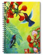 Purple-throated Caribs And Flamboyant Spiral Notebook