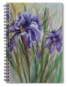 Purple Times 3 Spiral Notebook