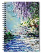 Purple Tree By The Lake Spiral Notebook