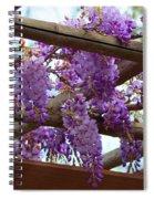 Purple Trellis Spiral Notebook