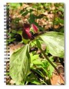 Purple Trillium Spiral Notebook