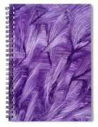 Purple Watercolor Art  Spiral Notebook