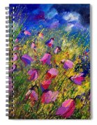Purple Wild Flowers  Spiral Notebook