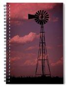 Purple Wind Spiral Notebook