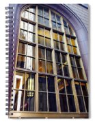 Chicago Golden Purple Window Panes Spiral Notebook