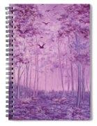 Purple Woods Spiral Notebook