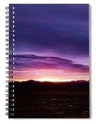 Puruple Sunset Spiral Notebook