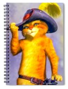 Puss In Boot Spiral Notebook