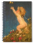 Putto And Butterfly 1896 Spiral Notebook