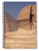 Pyramid And Sphinx Spiral Notebook