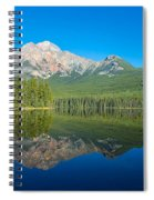 Pyramid Island In The Pyramid Lake Spiral Notebook