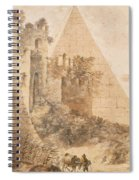 Pyramid Of Cestius And The Porta San Paolo, Rome Spiral Notebook