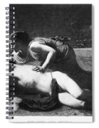 Pyramus And Thisbe Spiral Notebook