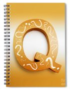 Q For Education And Learning Spiral Notebook