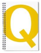 Q In Mustard Typewriter Style Spiral Notebook