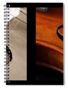 Quadriptych Of Musical Curves Spiral Notebook