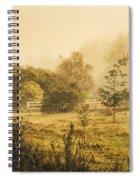 Quaint Countryside Scene Of Glen Huon Spiral Notebook