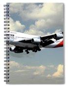 Quantas Boeing 747 Spiral Notebook