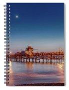 Quarter The Moon Spiral Notebook