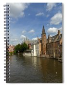 Quay Of The Rosary In Bruges Belgium Spiral Notebook