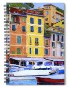 Quayside At Portofino Spiral Notebook