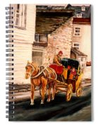 Quebec City Carriage Ride Spiral Notebook