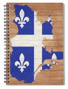 Quebec Rustic Map On Wood Spiral Notebook