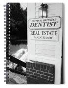 Quechee, Vermont - Falls Storefront 2006 Bw Spiral Notebook