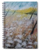 Queen Anne's Lace, Gouache Painting Spiral Notebook