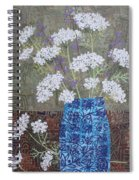 Queen Anne's Lace In Blue Vase Spiral Notebook