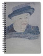 Queen Elizabeth Spiral Notebook