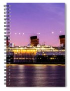 Queen Mary At Dusk_pano Spiral Notebook