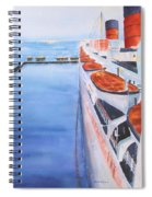 Queen Mary From The Bridge Spiral Notebook