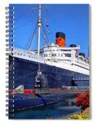 Queen Mary Ship Spiral Notebook