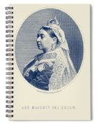 Queen Victoria Engraving - Her Majesty The Queen Spiral Notebook