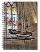 Quelven Church, Brittany, France, Ship Spiral Notebook