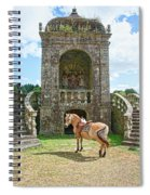 Quelven Village Square, Awaiting His Owner, Brittany, France Spiral Notebook