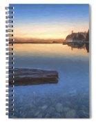 Quiet, Alone And Still II Spiral Notebook