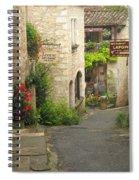 Quiet Lane In St Cirq I France Spiral Notebook