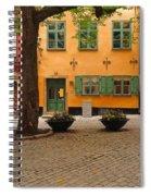 Quiet Little Square In Old Gamla Stan In Stockholm Sweden Spiral Notebook